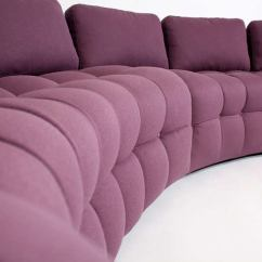 Hollywood Regency Curved Sofa Tov Camden 1970s Tufted Sectional At 1stdibs
