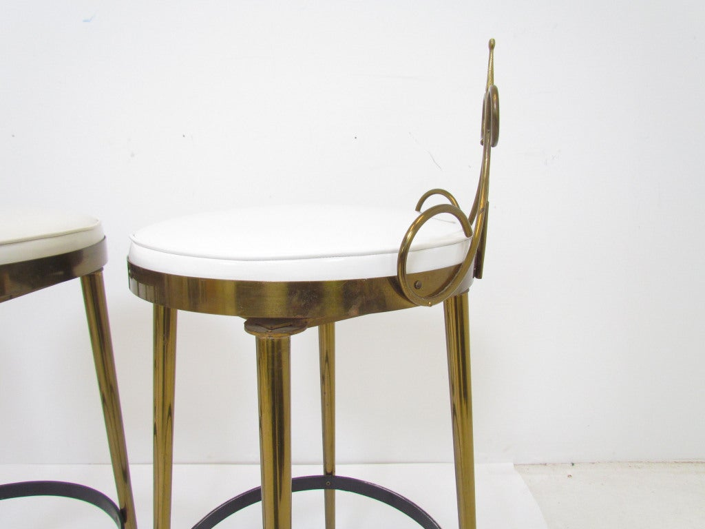 seng chicago chair folding stool set of three hollywood regency swivel bar stools ca 1950s