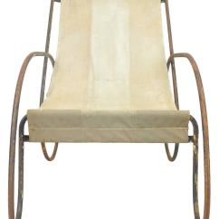 Canvas Sling Chair Big And Tall Pair Of Unusual Tubular Steel Lounge