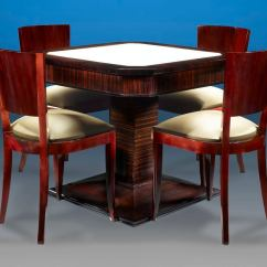 Card Table And Chairs Wheelchair Transport Service Art Deco At 1stdibs