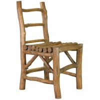 A Rustic Hardwood Chair at 1stdibs