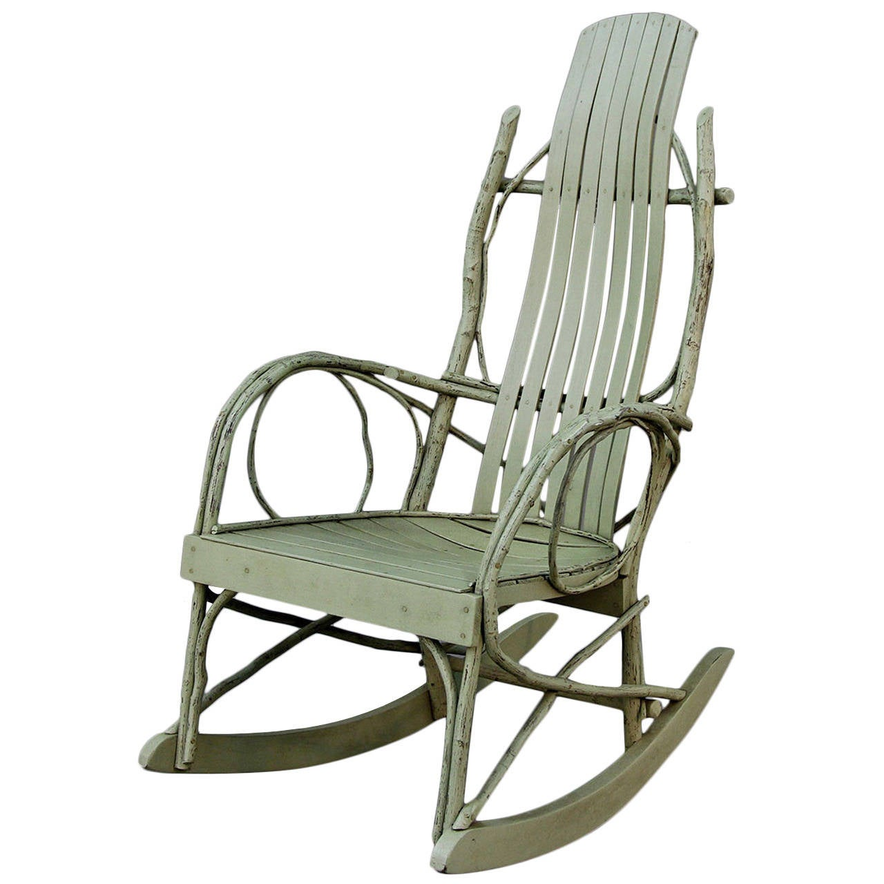 adirondack rocking chair woodworking plans cover rentals abbotsford original american twig at 1stdibs