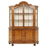 19th Century Dutch Marquetry China Cabinet at 1stdibs