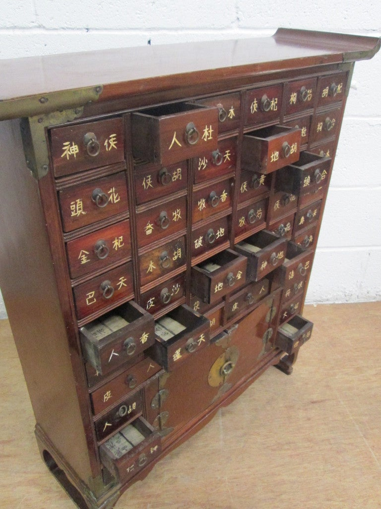 Vintage Asian Herbal Apothecary Cabinet at 1stdibs