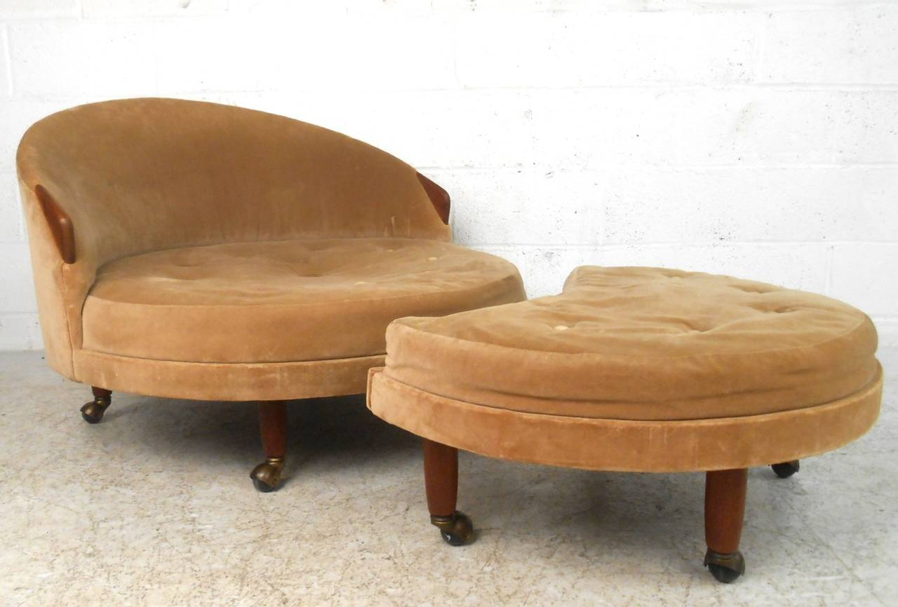 Mid Century Chair And Ottoman Mid Century Modern Adrian Pearsall Lounge Chair And