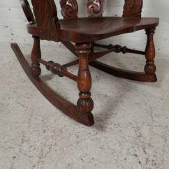 Antique Rocking Chair Price Guide Bedroom Bench Tiger Oak Rocker At 1stdibs