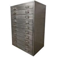 Cole Steel Vintage Flat File Cabinet at 1stdibs