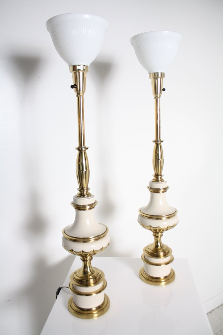 Pair of 1950's Stiffel Lamps at 1stdibs
