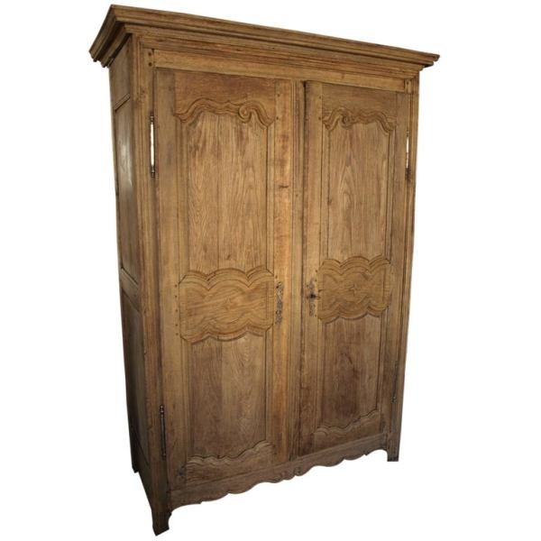 country style bedroom armoire French Antique Country Style Armoire in Washed Oak