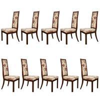 Set of Ten Mastercraft Dining Chairs at 1stdibs