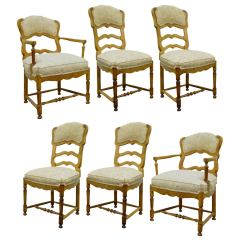 Ladder Back Dining Chairs French Country Desk Chair On Hardwood Six Style Carved And Upholstered