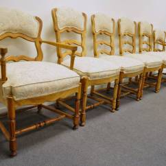 Country French Chairs Upholstered Contemporary Rocking Six Style Carved And Ladder