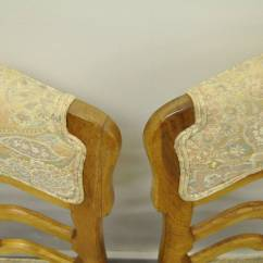 Ladder Back Dining Chairs French Country Red Velvet Chair Six Style Carved And Upholstered