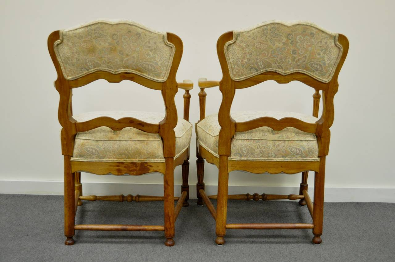 country french chairs upholstered cushion covers for six style carved and ladder