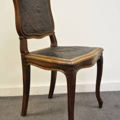 French Louis Chair Desk Chairs For Sale Xv Style Walnut Accent With Embossed