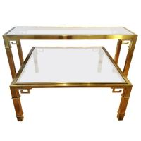 Mastercraft Greek Key Console Table and Coffee Table at ...