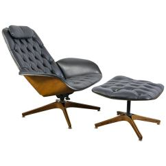 Modern Lounge Chair And Ottoman Set Rocking Glider Cushions Mid Century By George