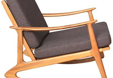 Modern Leather Rocking Chair