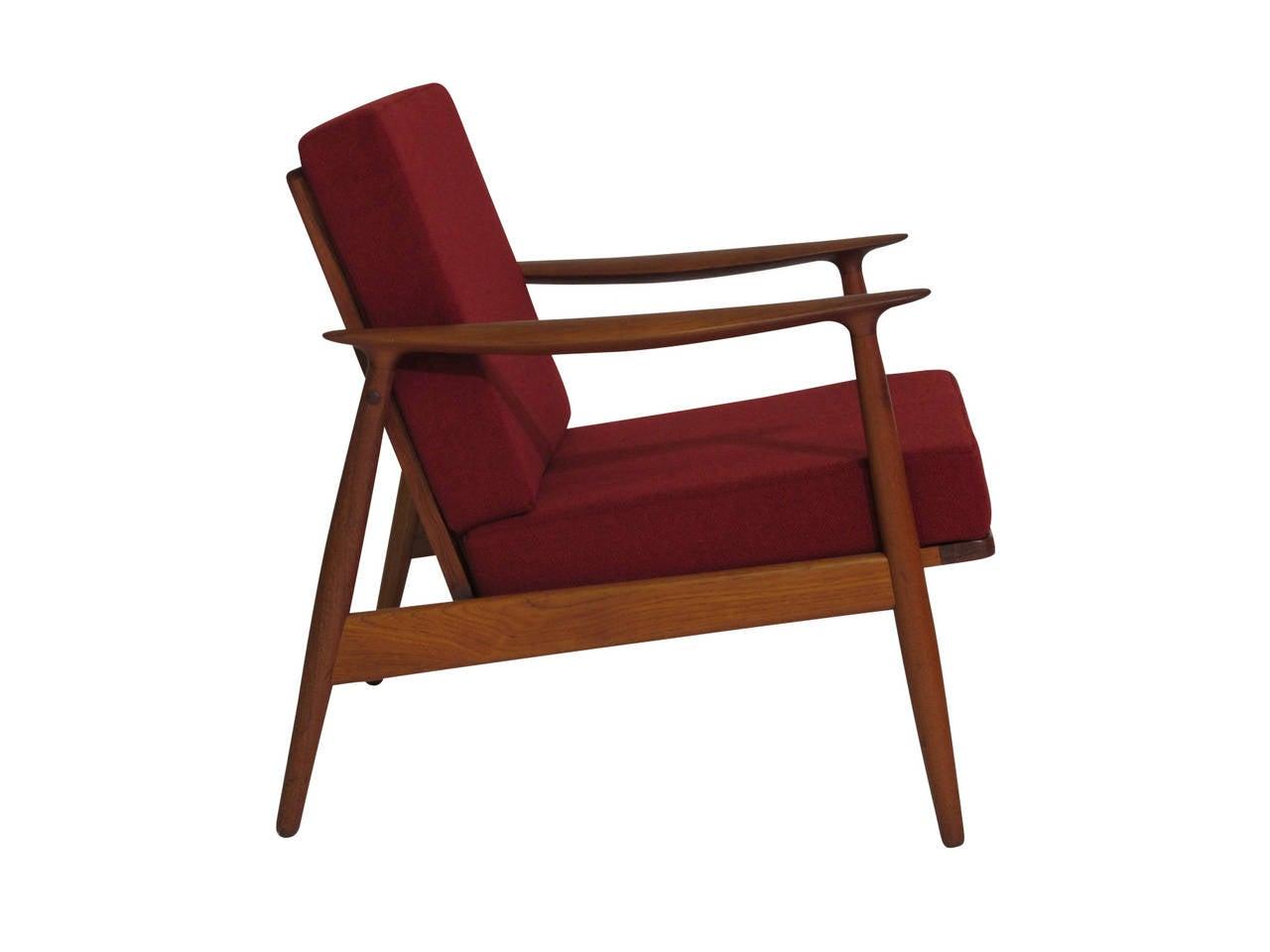 teak lounge chair steel drawing danish at 1stdibs
