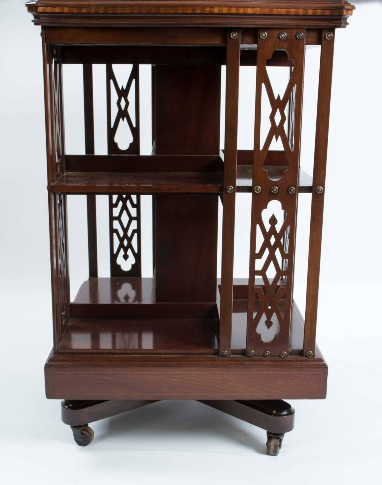 revolving chair manufacturers in ulhasnagar light brown leather with ottoman antique edwardian mahogany bookcase circa 1900