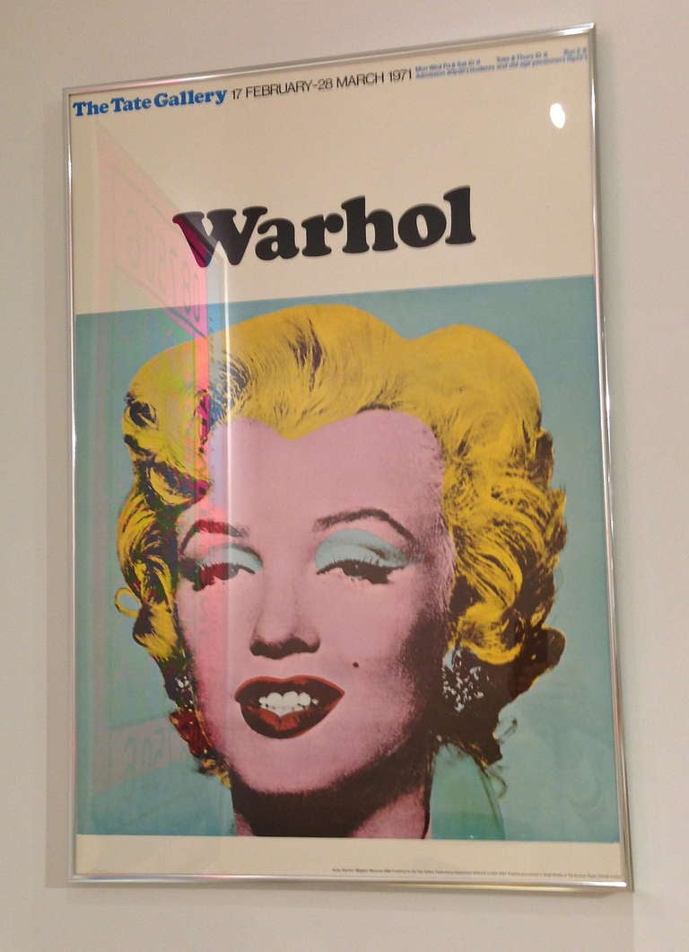Andy Warhol Marilyn Tate Gallery Exhibition Poster 1971 At
