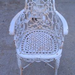 Cast Iron Outdoor Chairs Minnie Mouse Upholstered Chair Uk Antique Neoclassical Patio Set At 1stdibs