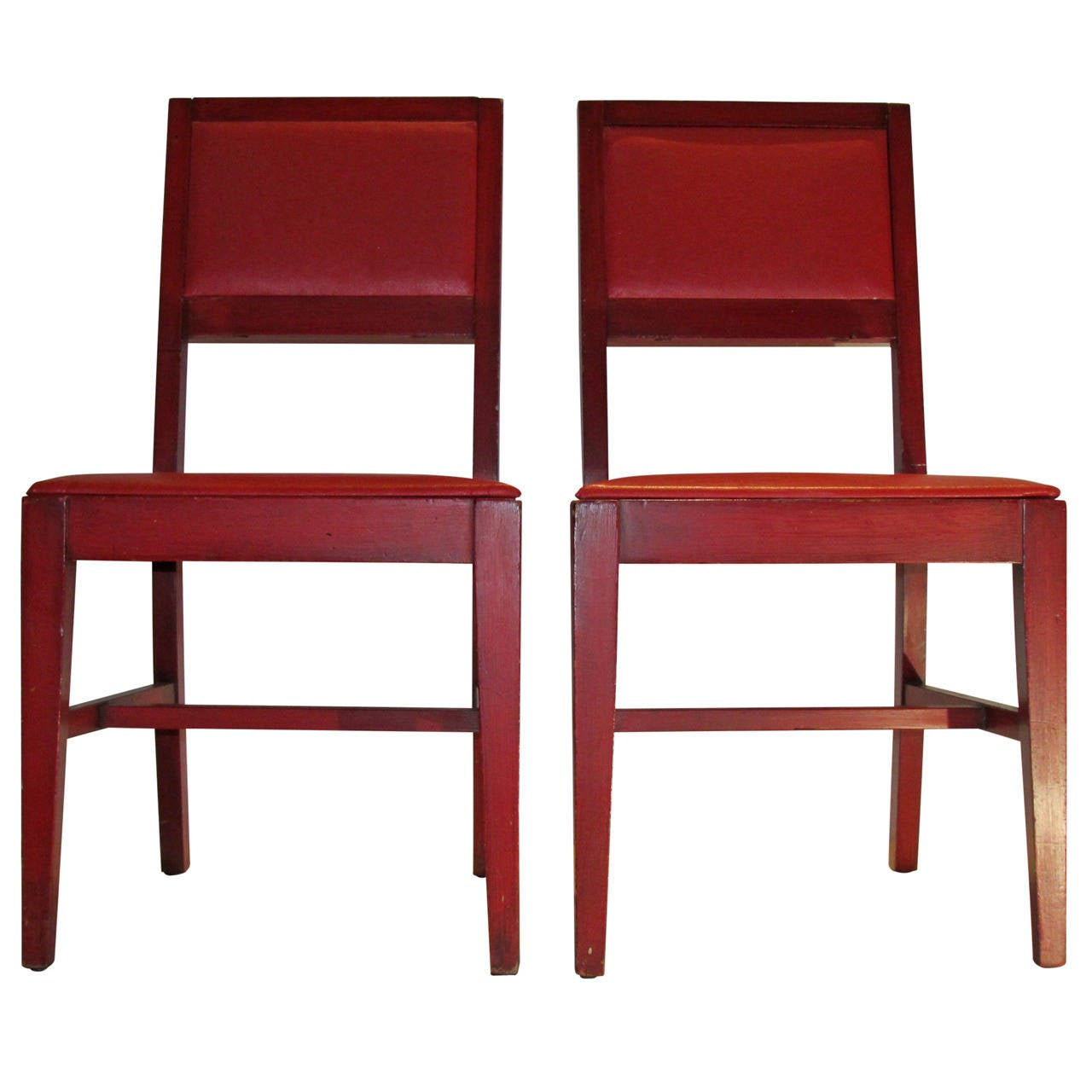 chairs at marshalls bar stool ikea 1940 39s modernist red from marshall fields 1stdibs