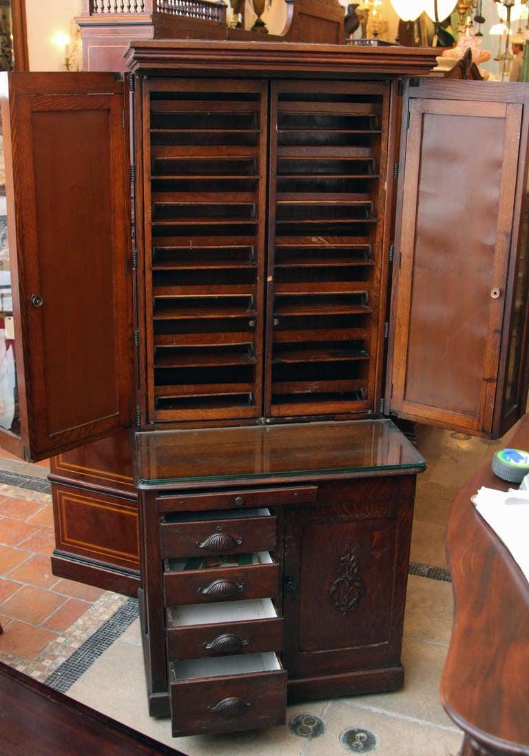 Antique Fine Wood Dental Cabinet at 1stdibs