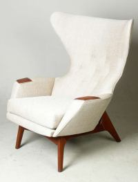 Adrian Pearsall for Craft Associates Modern Wingback Chair ...