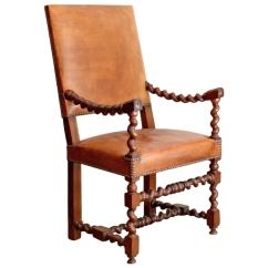 Barley Twist Chair Off White Dining Chairs Unique Leather At 1stdibs