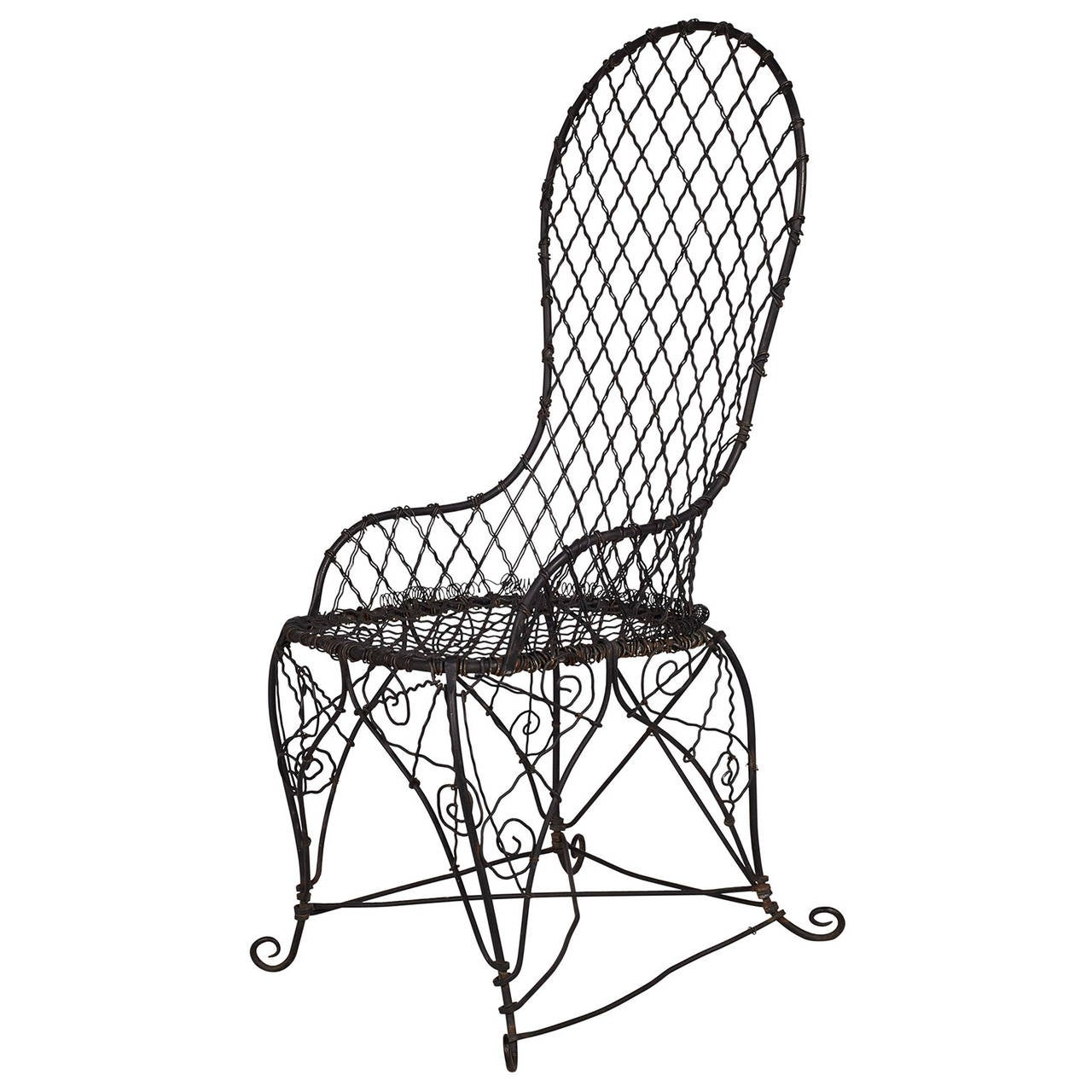 black wire chair chairs for church sanctuary canada antique at 1stdibs