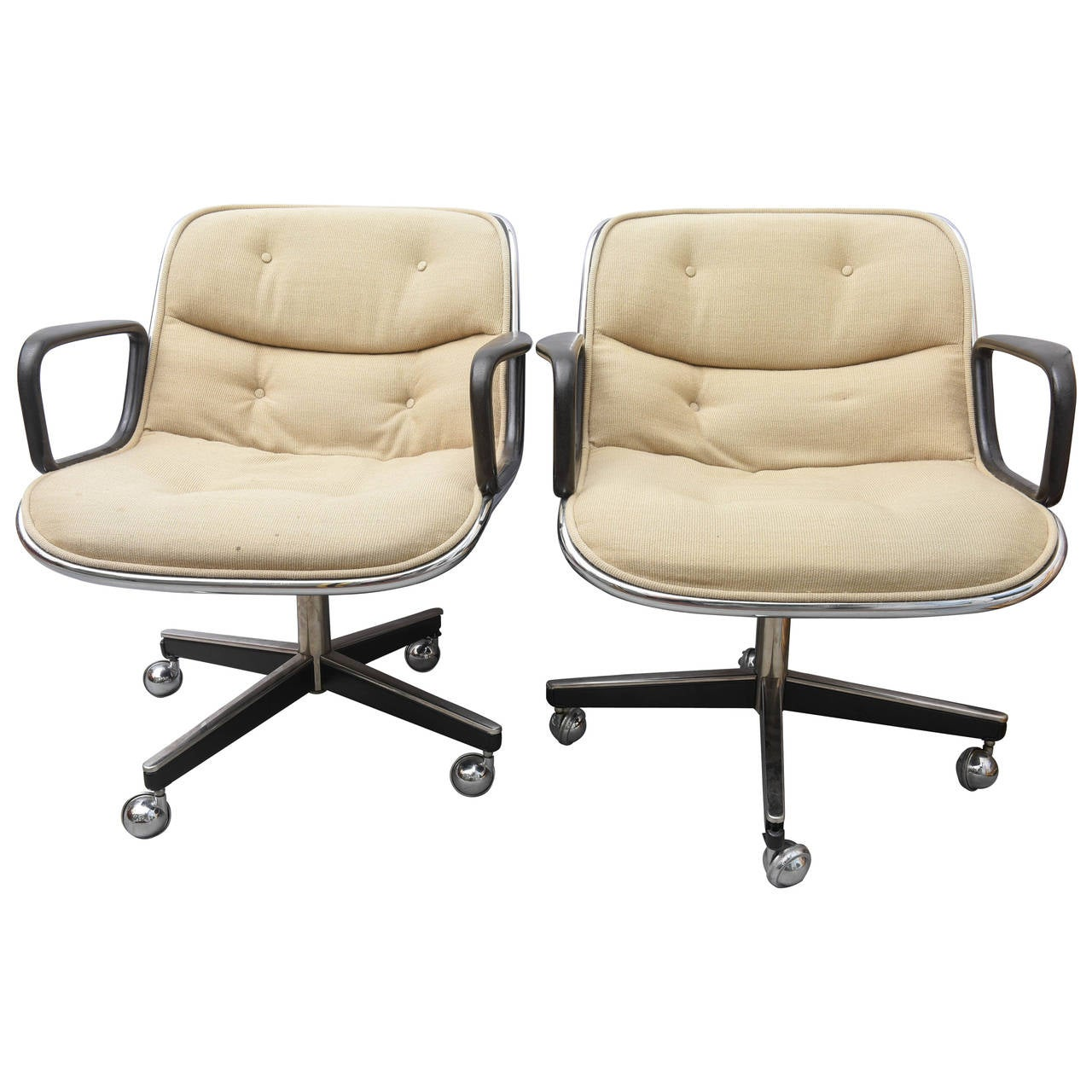 pollock executive chair replica inada dreamwave massage pair of charles for knoll chairs 1970s