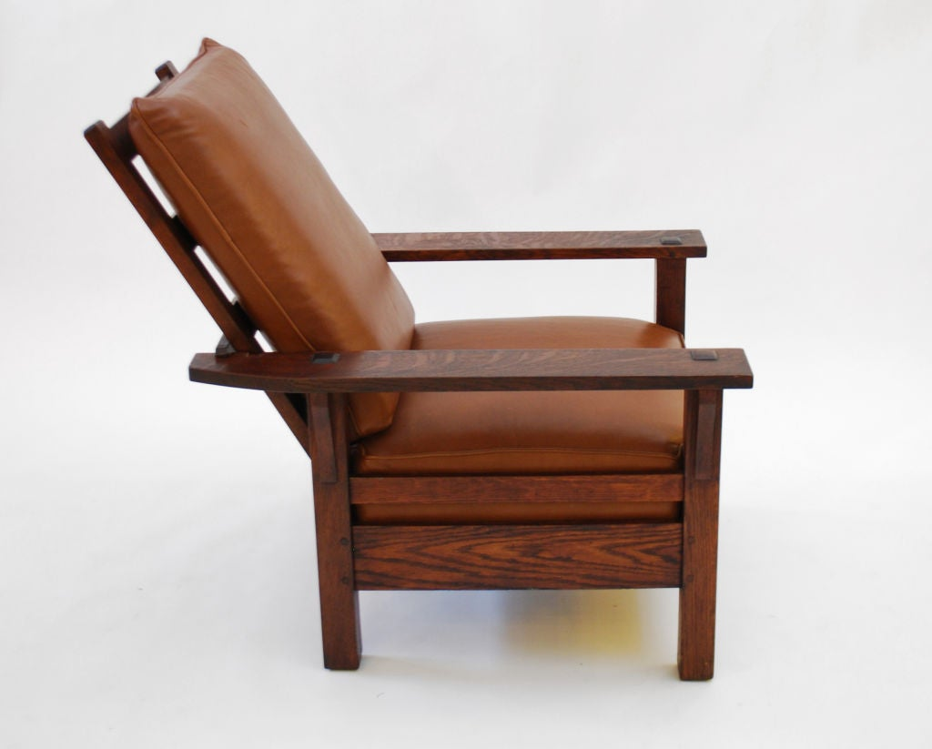 Stickley Chair L And Jg Stickley Morris Chair C 1915 Arts And Crafts