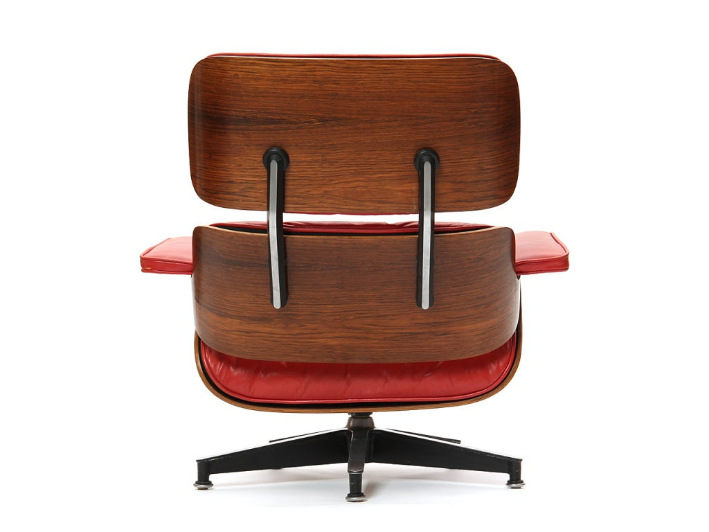 red lounge chair mid century wire outdoor chairs by charles and ray eames at 1stdibs