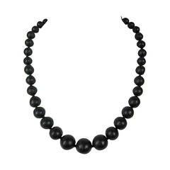 Ciner swarovski Crystal Double Strand Black Horse Necklace