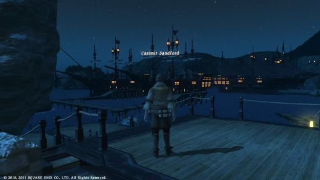 Casimir looking out at the stars from Limsa Lomnisa