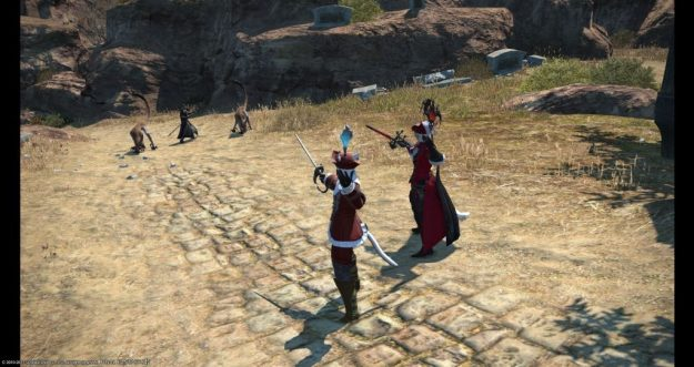 Rakuno and X'rhun Tia ready to fight some bad guys