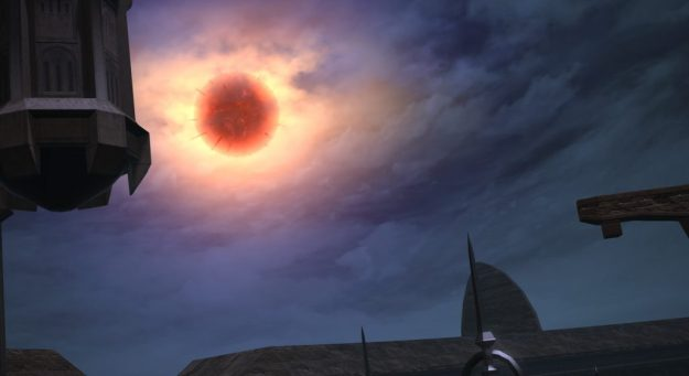 A Red Moon in the sky
