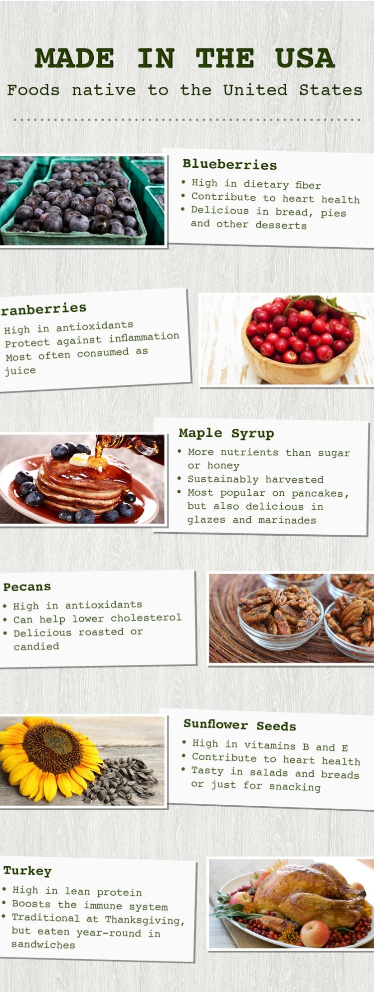 Foods native to the US