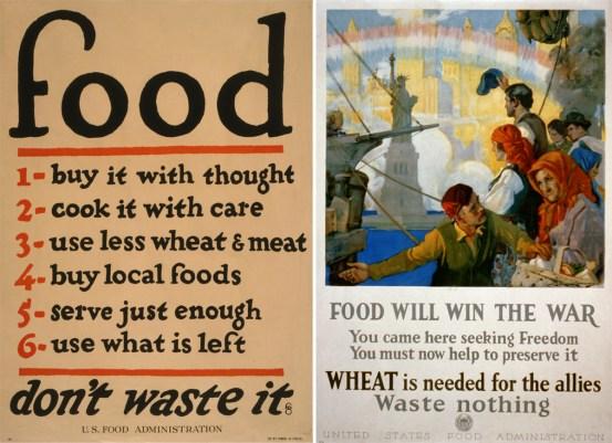 Dos carteles de la Primera Guerra Mundial (Biblioteca del Congreso)