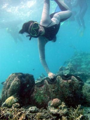 曾經對海有陰影的咪,勇敢嘗試了潛水還考到執照