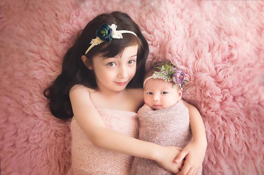 Sarah with sister