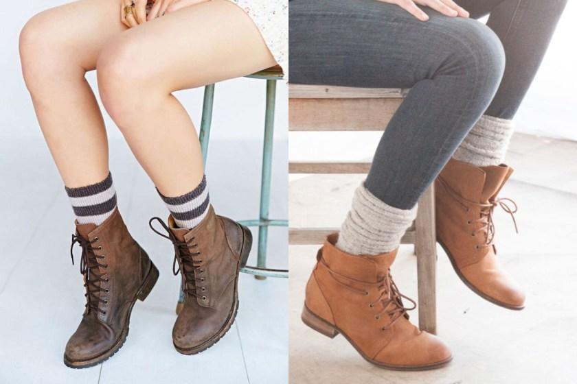 紅、黃、綠等森林色系,看似鮮艷又不會帶給別人太強烈的侵略感,如果此時配上一款棕色短靴,不僅更降低了色調的突兀,卻能同時加強時尚的元素