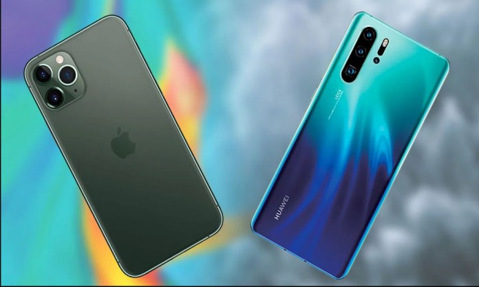 Comparison of iPhone 11 and Huawei P30 pro