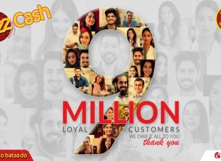 JazzCash, Pakistan's number 1 mobile account, is now serving more than 9 million active users