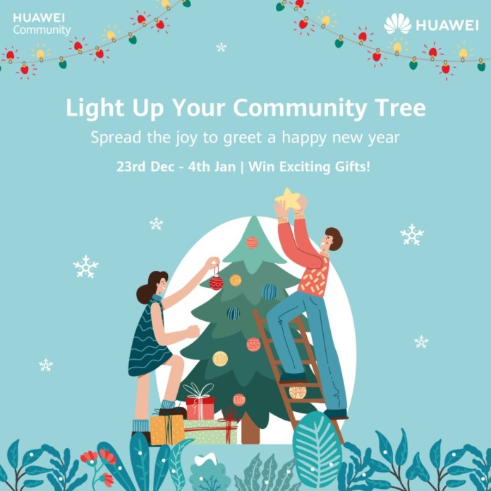 "Join Huawei's ""Light up Your Community Tree"" Activity to Celebrate New Years"
