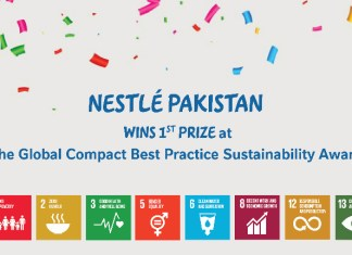 Nestlé Pakistan awarded with 1st Prize at Living the Global Compact Best Practice Sustainability Awards 2020