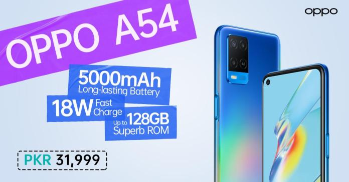 OPPO Launches All New OPPO A54 in Pakistan