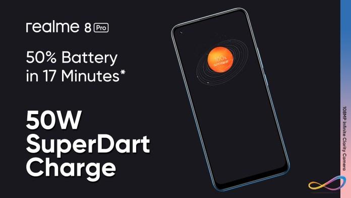 realme 8 battery