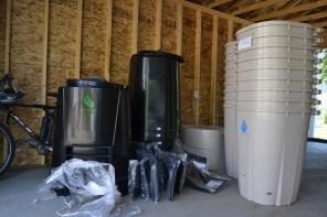 Composters and rain barrels